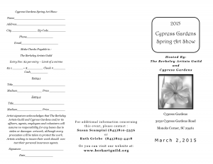 Brochure png for 2015 Cypress Gardens Spring Art Show