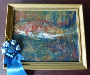 "1st in Mixed Media - Sharon Turner, ""Coastal Observer"""