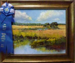 "1st in Oils - Sandra J Booker, ""Summer South Carolina"""